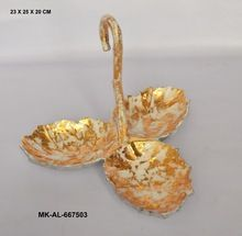 Aluminum 3 Leaves Platter With Carry Handle