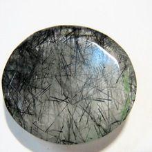 Black Rutile Rutilated Quartz Cut Gemstone Loose Stones