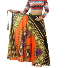 dashiki hippie hight waist skater maxi skirt