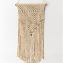 hand knitted cotton macrame