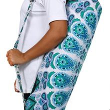 mandala print fitness exercise carrier bag