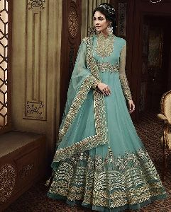 Embroidered Party Wear Gown