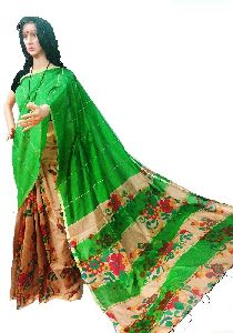 Half & Half Khesh Cotton Saree