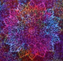 Star Mandala Dye And Dye Bed Sheet Throw