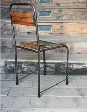 Reclaimed solid multicolour wood dining chair