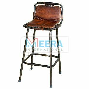 Leather Rustic Bar Stools