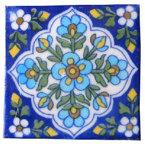 Decorative Floral Design Hand Made Tiles