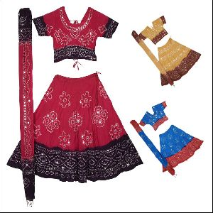 Rajasthani Ghagra Choli For Kids Dress