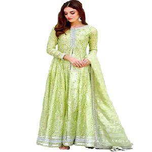 Chanderi Silk Anarkali Salwar Kameez