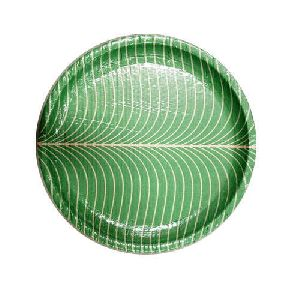 Green Buffet Paper Plate