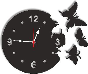 Decorative Wall Clock For Living Room Analog Wall Clock, Wall Mounted Clock, Tree Shape Wall Clock