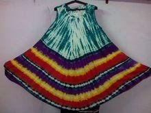 Tie Dye Rayon Umbrella Dresses