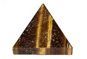 Tiger Eye Stone Pyramid