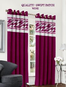 Swift Wine Colour Curtains