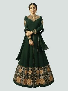 Abaya Green Anarkali Salwar Suit