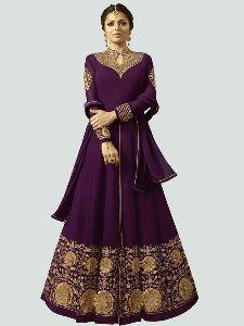 Abaya Purple Anarkali Dress