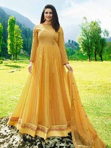 Designer Yellow Anarkali Suit