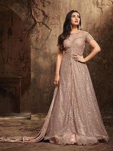 Latest Light Peach Anarkali Salwar Suit