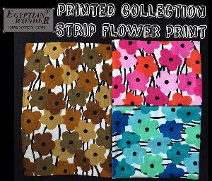 Strip Flower Printed Towels