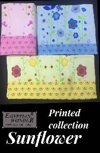 Sunflower Printed Towels