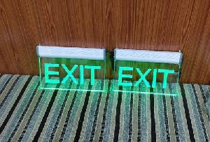 Acrylic Led Exit Sign Boards