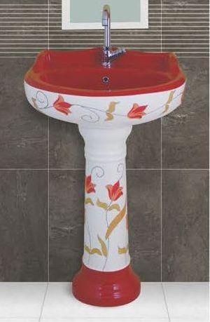 Phenil-211 Dolphin Pedestal Wash Basin