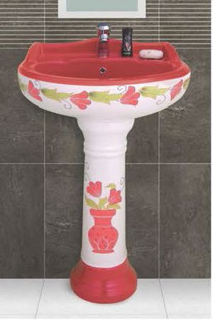 Phenil-212 Dolphin Pedestal Wash Basin