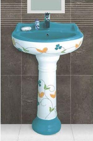 Phenil-213 Dolphin Pedestal Wash Basin