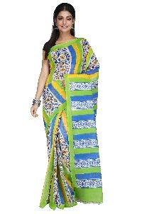 Block Print Handwoven Traditional Pure Cotton Tant Saree