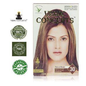 Vedic Concepts Herbal Hair Color- Natural Brown-no.30