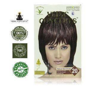 Vedic Concepts Herbal Hair Color- Natural Dark Brown-no.20