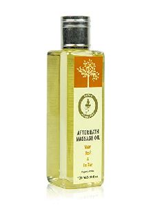 Vedic Concepts Organic After Bath Massage Oil- Neem, Basil & Tea Tree