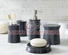 Black Marble Bath Accessories
