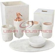 White Marble Bath Accessories