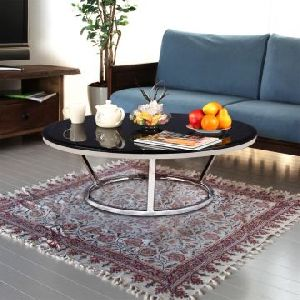 Stainless Steel Glass Top Center Table