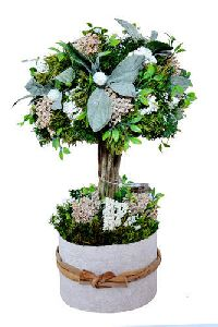 Decorative Artificial Plant With Round Pot