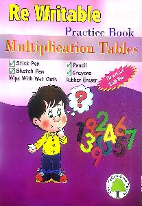 REWRITABLE MULTIPLICATION TABLES EXCERCISE BOOK FOR KIDS