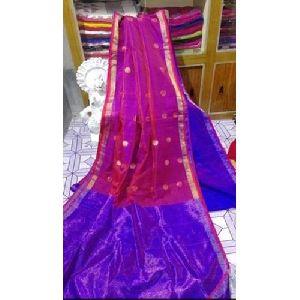 Embroidered Matka Silk Saree