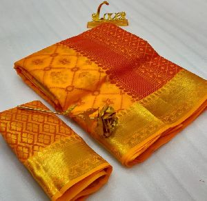 Patola Soft Cotton Silk Saree