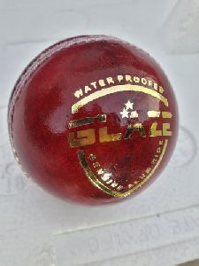 Red Genuine Leather Cricket Ball