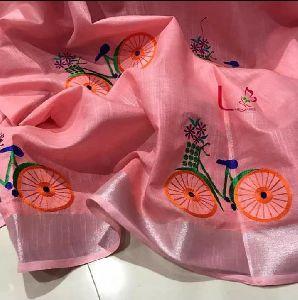 Perfect Handloom Pure Linen Jamdani Saree