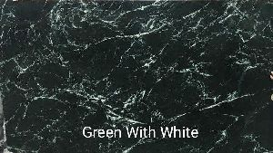 Green with White Marble Slabs