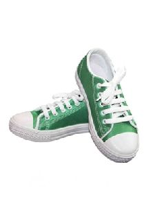 Green Canvas Shoes