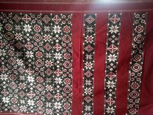 Pochampally Handloom Handwoven 9motif Telia Cotton Sarees
