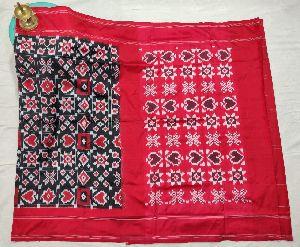 Pochampally Handloom Telia Rumal Silk Saree