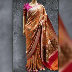 Banarasi Handloom Pure Chiffon Khaddi Georgette Saree