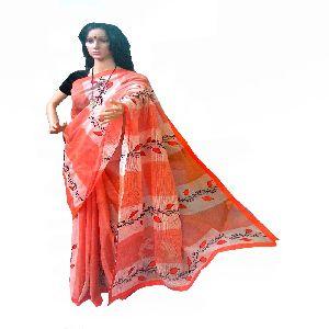 Pure Cotton Handloom Saree From Bengal
