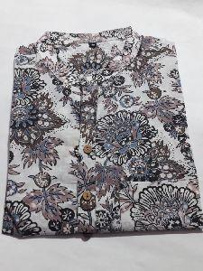 Hand Block Printed Fabric 100% Cotton. Kurta For Men