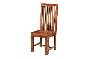 Wooden High Back Chair