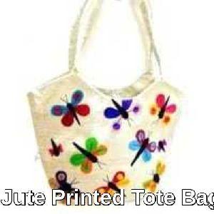 Jute Printed Tote Bag